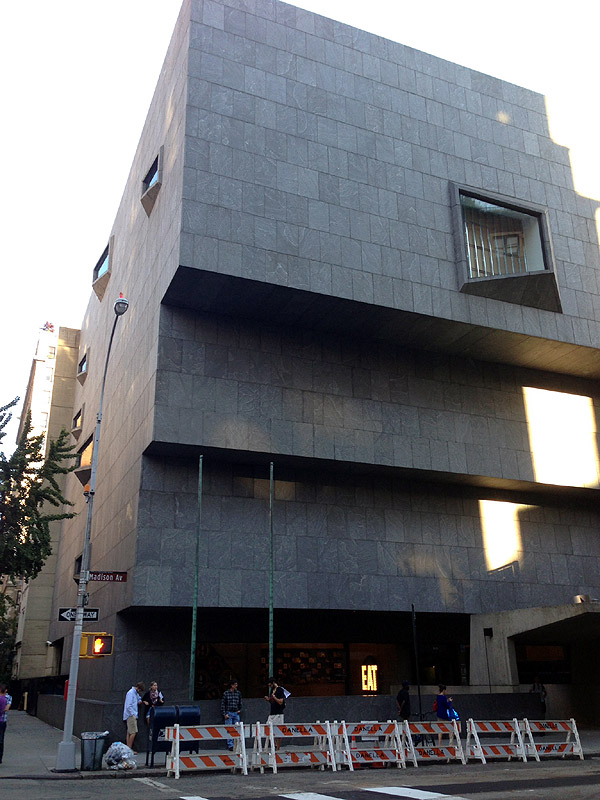 Whitney Museum of American Art 945 Madison Avenue at 75th Street New York, NY 10021