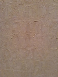 Jasper Johns, White Numbers, 1957