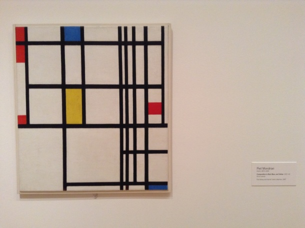 Piet Mondrian, Composition in Red, Blue, and Yellow, 1937-42