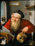 Joos van Cleve (1485–1540) Der heilige Hieronymus im Studierzimmer, 1521 Holz, 60,7 x 46,7 cm © Private Collection, United Kingdom (courtesy Haboldt & Co., Paris)