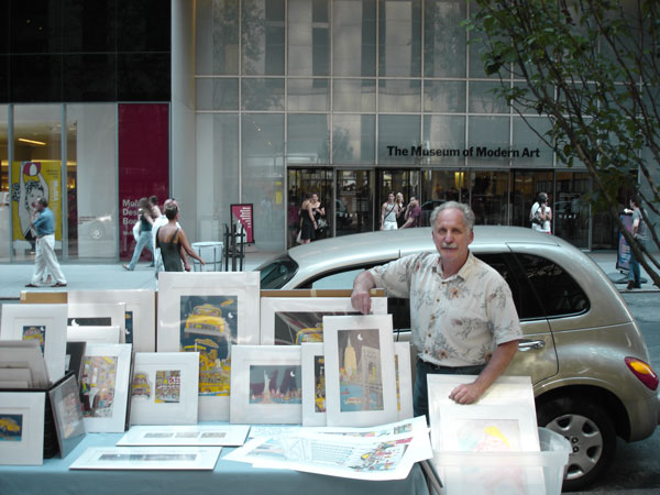 John Suchy in front of the MoMA © John Suchy