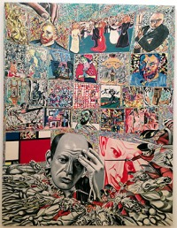 Erró - The Background of Pollocke, 1966-67, 260 x 200 cm, Glycerophtalische Farbe auf Leinwand, Collection Centre Pompidou, Paris