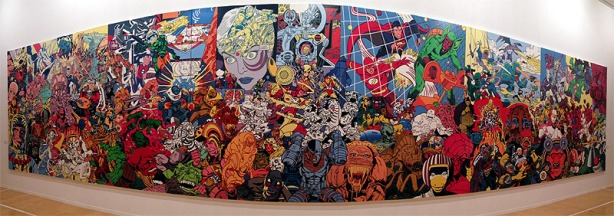 Erró - Science-Fiction Scape, 1992, 286 x 1320 cm, Glycerophtalische Farbe auf Leinwand, Collection Listasafn Reykjavfkur