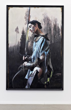 Martin Eder Blut, 2015 Öl auf Leinwand / Oil on canvas 225 x 100 cm Courtesy of the artist, Galerie EIGEN + ART Leipzig/Berlin