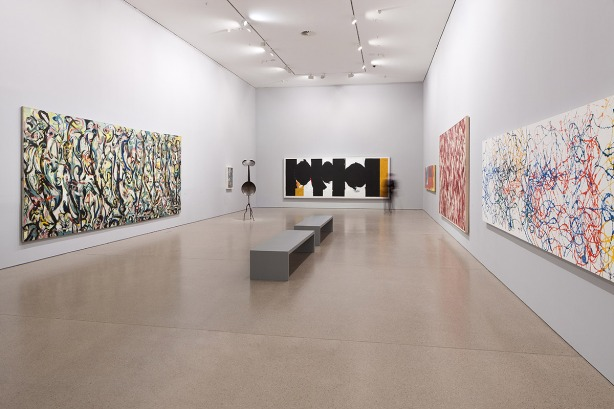 Installationsansicht JACKSON POLLOCK'S MURAL: Energy made visible, 25.11.2015 – 10.04.2016, Deutsche Bank KunstHalle, Photo: Mathias Schormann, © Deutsche Bank KunstHalle