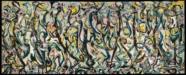 Jackson Pollock - Mural, 1943, Öl und Kasein auf Leinwand, 242,9 x 603,9 cm. Geschenk von Peggy Guggenheim, 1959 The University of Iowa Museum of Art, Iowa City, reproduziert mit der Genehmigung durch The University of Iowa Museum of Art. © Pollock-Krasner Foundation/ VG Bild-Kunst, Bonn 2015