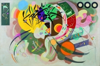 Dominant Curve (Courbe dominante) Vasily Kandinsky (1866–1944), April 1936. Oil on canvas, 129.2 x 194.3 cm. Solomon R. Guggenheim Museum, New York. Solomon R. Guggenheim Founding Collection 45.989. Photo by Kristopher McKay