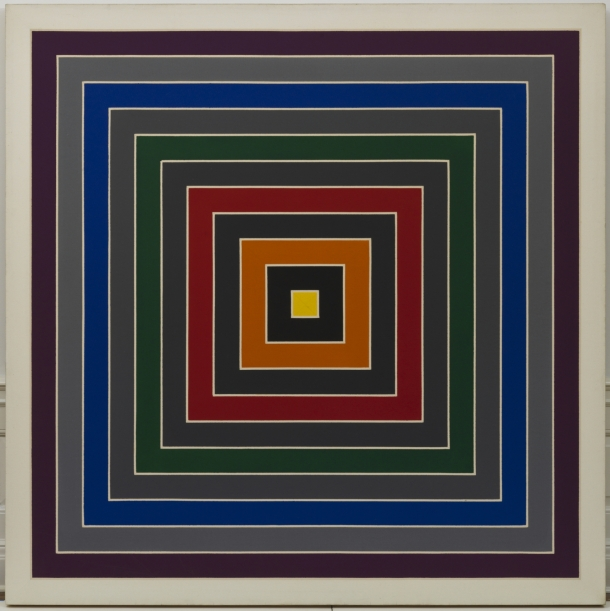 Gray Scramble Frank Stella (b. 1936), 1968– 69. Oil on canvas, 175,3 x 175,3 cm. Solomon R. Guggenheim Foundation, Hannelore B. and Rudolph B. Schulhof Collection, bequest of Hannelore B. Schulhof, 2012, 2012.101 Photo by David Heald. © Frank Stella, by SIAE 2016