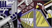 Preparedness Roy Lichtenstein (1923–1997), 1968. Oil and Magna on three joined canvases, 304.8 x 548.6 cm overall. Solomon R. Guggenheim Museum, New York 69.1885 Photo by Kristopher McKay. © Estate of Roy Lichtenstein New York, by SIAE 2016