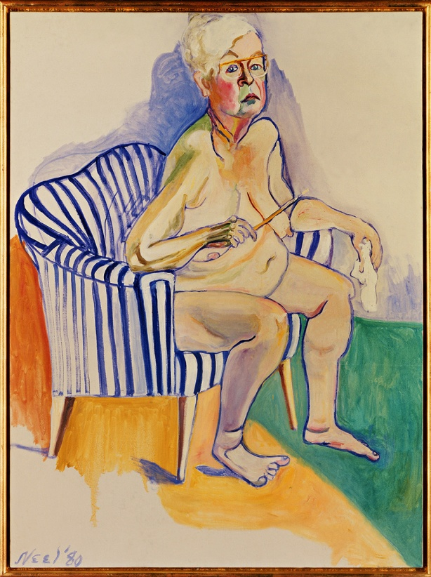 Alice Neel: Self-Portrait, 1980. National Portrait Gallery Smithsonian Institution, Washington D.C. Photo: © National Portrait Gallery / Smithsonian Institution / Art Resource / Scala, Florence 2015 © Estate of Alice Neel