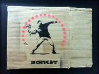 Banksy - Flower Chucker (2003)