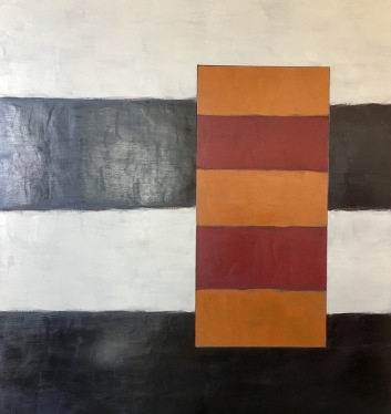 Sean Scully - Passenger Maroon Cream, 1998