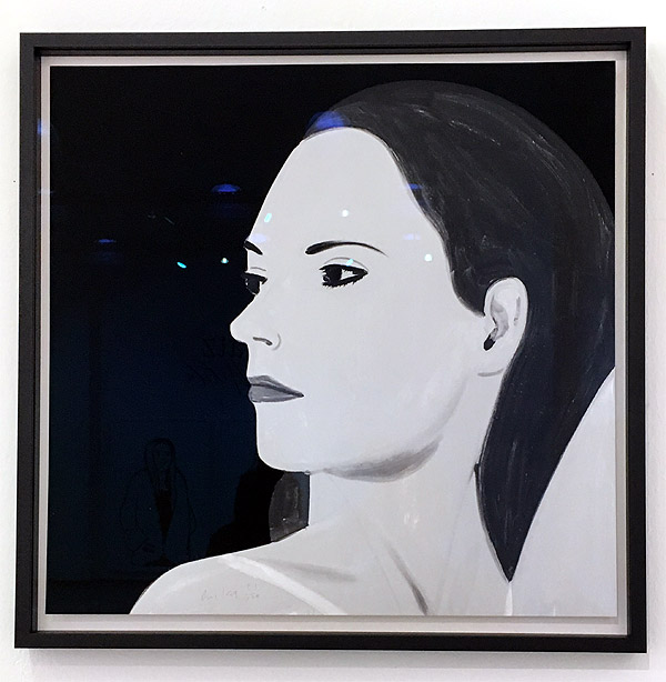 Alex Katz Black + White (Laura 5)