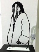 Alex Katz Black + White (Shopper #11, Cutout)