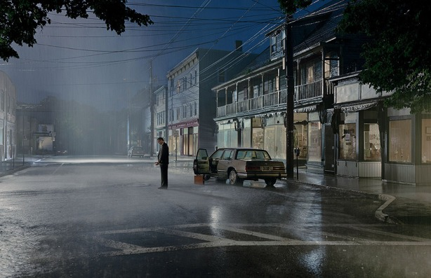 Gregory Crewdson, Untitled (Summer Rain), 'Beneath the Roses', 2004, digital pigment print. Museum Frieder Burda, Baden-Baden © Gregory Crewdson Courtesy Gagosian
