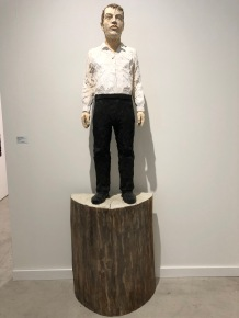 "Stephan Balkenhol ""Man with black pants and white shirt"" @ Galerie Forsblom"