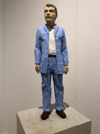 "Stephan Balkenhol ""Man with light blue shirt"" @ Galerie Forsblom"