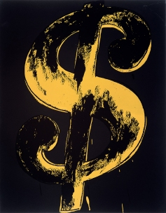 Andy Warhol: Dollar Sign, 1981 Appletree Collection © 2019 The Andy Warhol Foundation for the Visual Arts, Inc. / Licensed by Artists Rights Society (ARS), New York