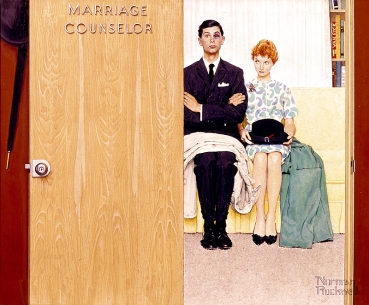Norman Rockwell: Marriage Counselor, 1963, Norman Rockwell Art Collection Trust © The Norman Rockwell Family Agency