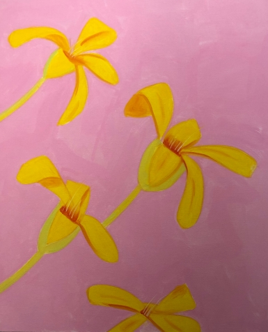 "Alex Katz ""Untitled, yellow-pink"" @ Gavin Brown"