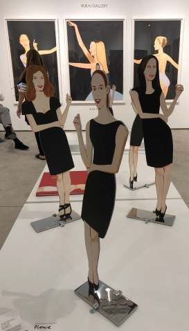 "Alex Katz ""Black Dress (Cutouts)"" and ""Dancer 2"" @ Nikola Rukaj Gallery"