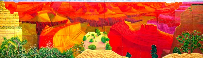 A Closer Grand Canyon (1998, Louisiana Museum of Modern Art in Humlebæk) © David Hockney