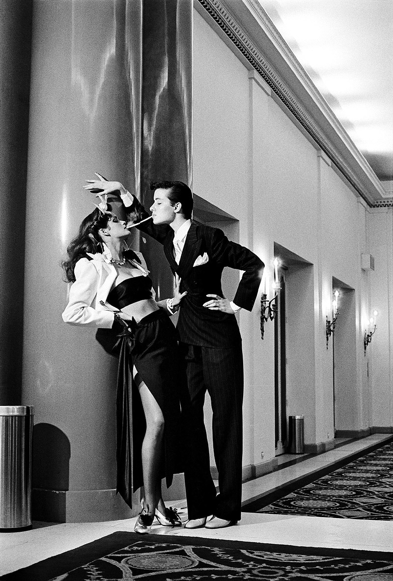 Fashion Yves Saint Laurent, French Vogue, Paris 1979 © Helmut Newton Estate, courtesy Helmut Newton Foundation